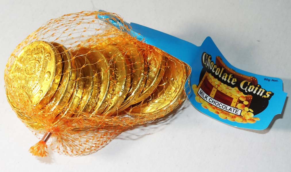 Cosmic Gold Coins, by Other/Sweet Season,  and more Confectionery at The Professors Online Lolly Shop. (Image Number :5519)
