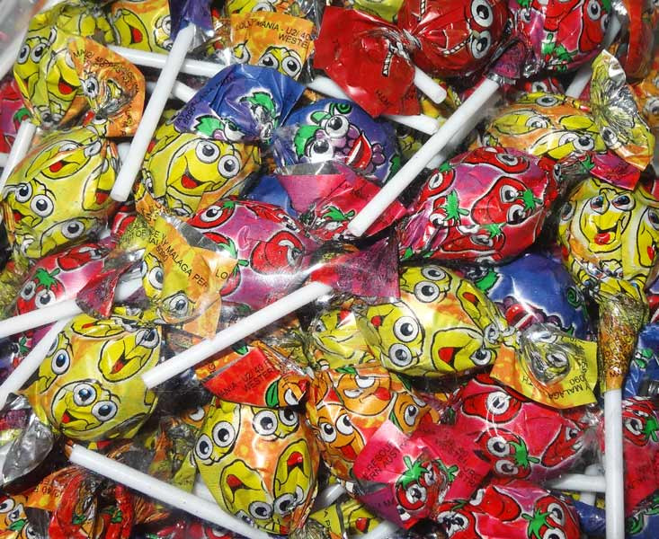 Lolly Mania Ball Pops, by Tasty Treats,  and more Confectionery at The Professors Online Lolly Shop. (Image Number :5546)