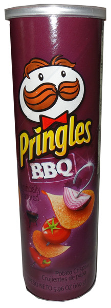 Pringles - BBQ, by Pringles,  and more Snack Foods at The Professors Online Lolly Shop. (Image Number :6450)