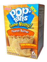 Kelloggs Pop Tarts - Gone Nutty -  Peanut Butter (6 x 50g toaster pastries)