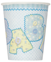 Paper Cups - Baby Blue Stitching, by Meteor,  and more Partyware at The Professors Online Lolly Shop. (Image Number :5686)