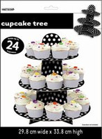 Dots Cupcake Tree - Black, by Meteor,  and more Partyware at The Professors Online Lolly Shop. (Image Number :5759)
