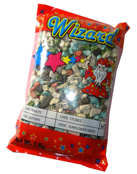 Wizard Choc Stones, by Wizard,  and more Confectionery at The Professors Online Lolly Shop. (Image Number :6029)
