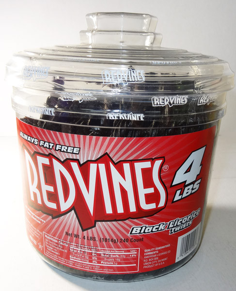 Red Vines 4lbs tub - Black Licorice Twists, by American Licorice Co,  and more Confectionery at The Professors Online Lolly Shop. (Image Number :5858)