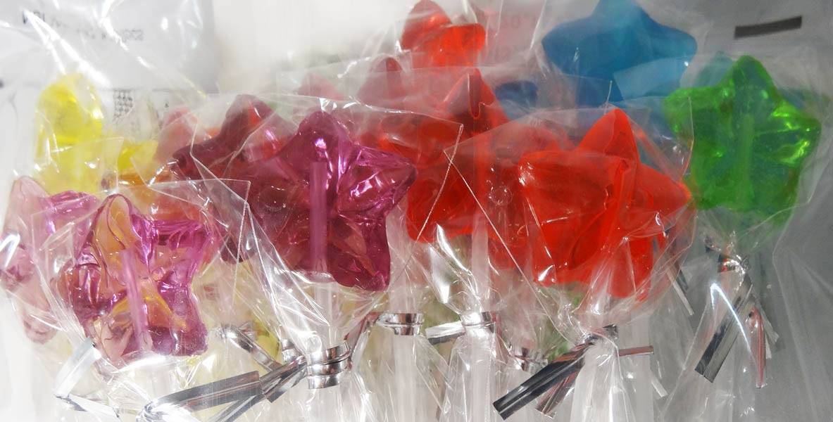 Long Stick Star Lollipops and more Confectionery at The Professors Online Lolly Shop. (Image Number :5895)