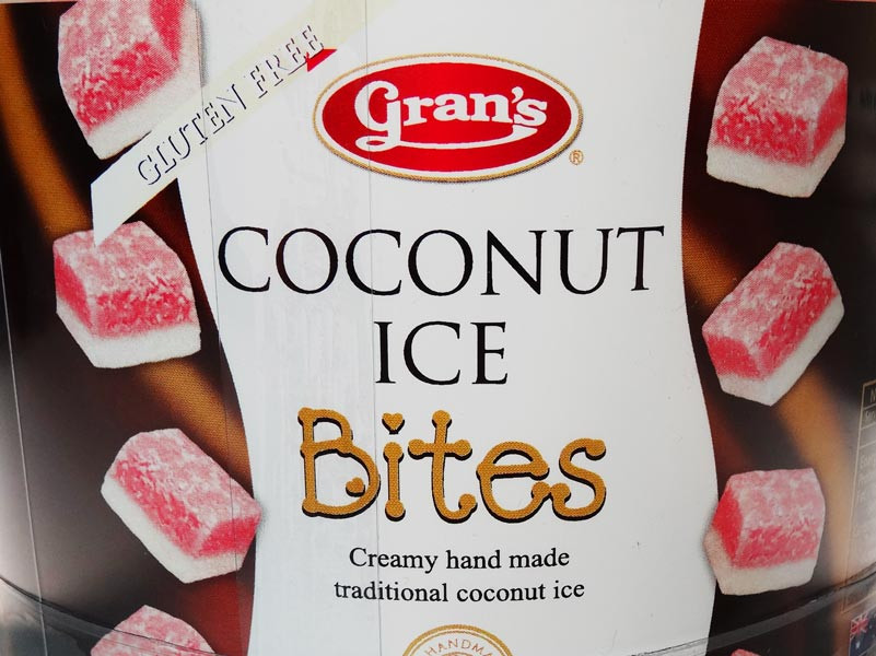 Gran s Coconut Ice Bites, by Grans,  and more Snack Foods at The Professors Online Lolly Shop. (Image Number :6065)