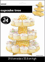 Dots Cupcake Tree - Yellow, by Meteor,  and more Partyware at The Professors Online Lolly Shop. (Image Number :5955)