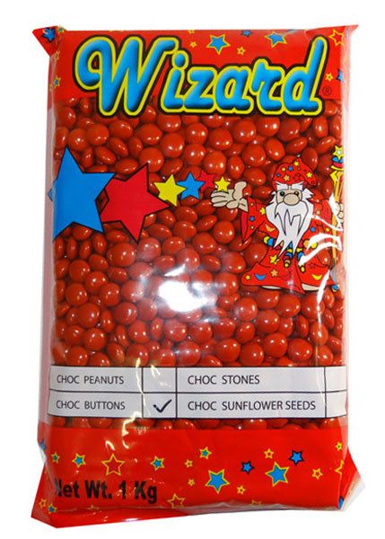 Wizard Choc Buttons - Red, by Wizard,  and more Confectionery at The Professors Online Lolly Shop. (Image Number :8195)