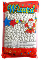 Wizard Choc Buttons - White, by Wizard,  and more Confectionery at The Professors Online Lolly Shop. (Image Number :8190)