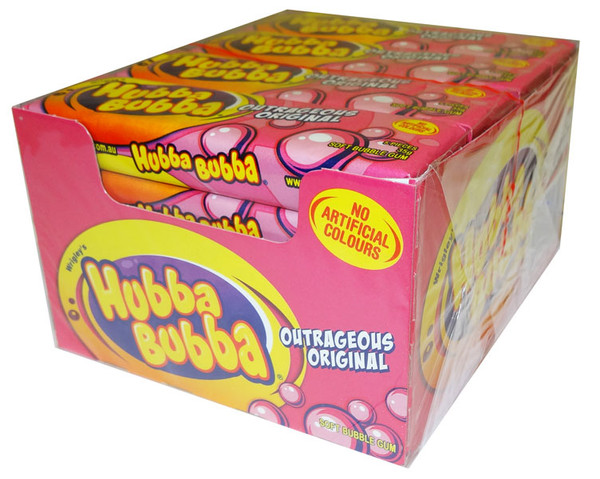 Hubba Bubba Soft Bubble Gum - Outrageous Original, by Wrigley,  and more Confectionery at The Professors Online Lolly Shop. (Image Number :6241)