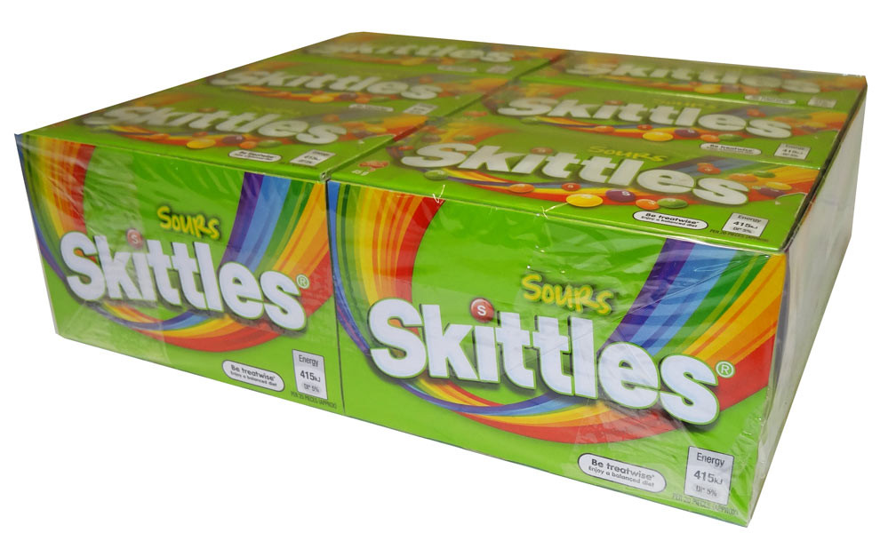 Skittles Sours, by Mars,  and more Confectionery at The Professors Online Lolly Shop. (Image Number :6242)