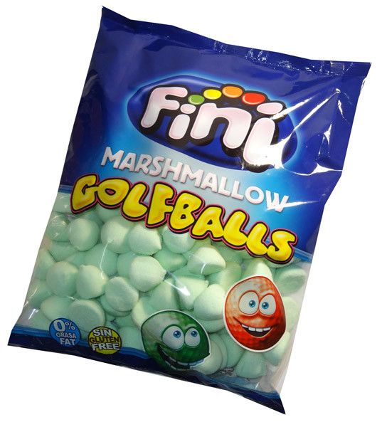 Fini Marshmallow Golfballs - Green, by Fini,  and more Confectionery at The Professors Online Lolly Shop. (Image Number :6353)