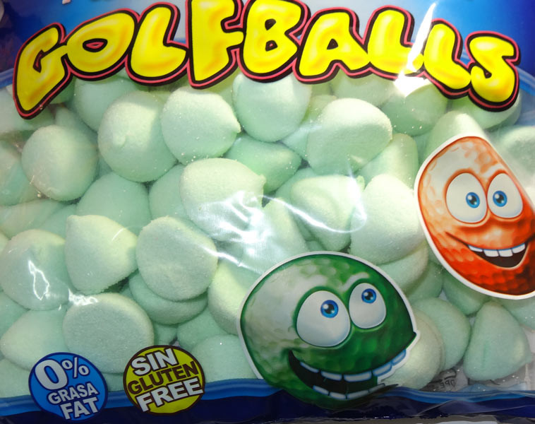 Fini Marshmallow Golfballs - Green, by Fini,  and more Confectionery at The Professors Online Lolly Shop. (Image Number :6354)