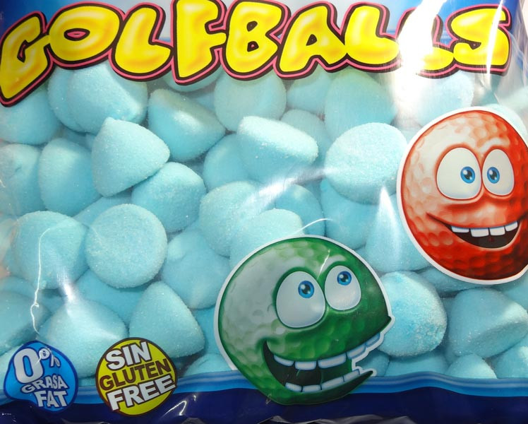 Fini Marshmallow Golfballs - Blue, by Fini,  and more Confectionery at The Professors Online Lolly Shop. (Image Number :6352)