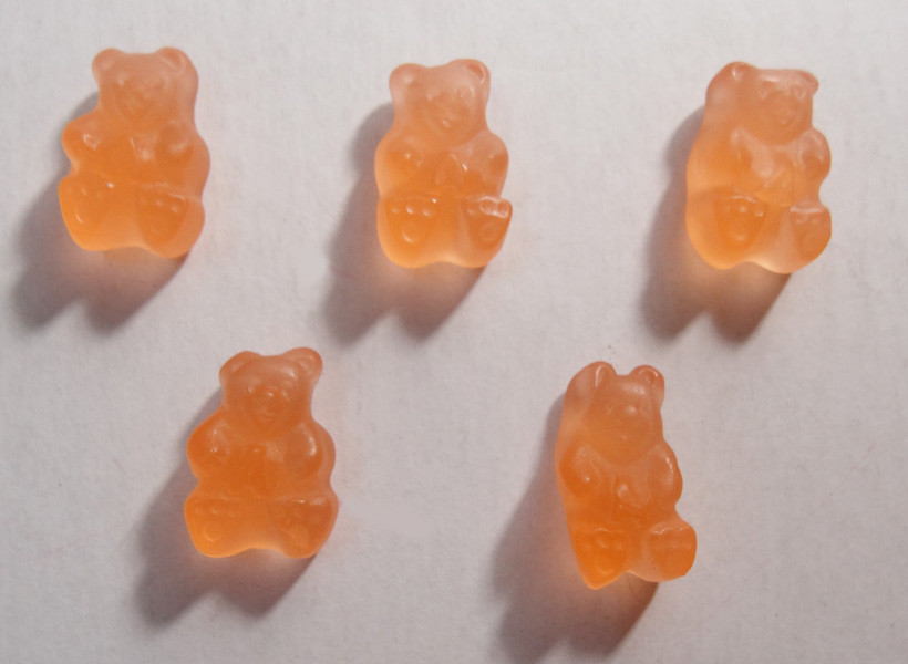 Gummi Bears Pink Grapefruit, by Albanese Confectionery/Other,  and more Confectionery at The Professors Online Lolly Shop. (Image Number :6320)