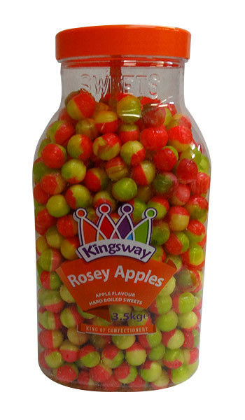 Kingsway Rosey Apples, by Tilleys,  and more Confectionery at The Professors Online Lolly Shop. (Image Number :10183)