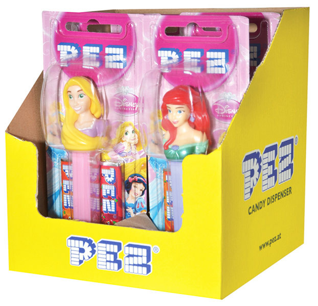 Pez Candy Dispensers - Princess, by Pez,  and more Confectionery at The Professors Online Lolly Shop. (Image Number :6963)