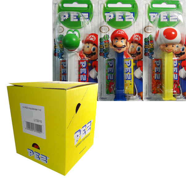 Pez Candy Dispensers - Super Mario, by Pez,  and more Confectionery at The Professors Online Lolly Shop. (Image Number :6473)