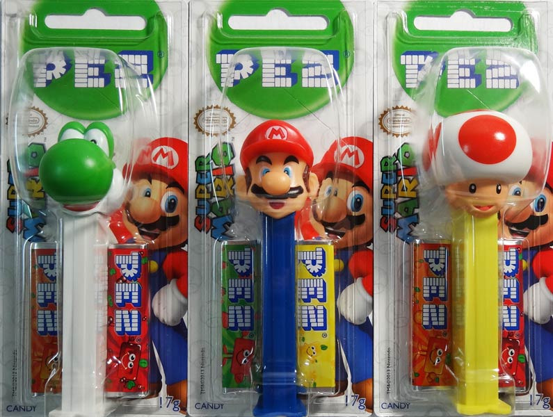 Pez Candy Dispensers - Super Mario, by Pez,  and more Confectionery at The Professors Online Lolly Shop. (Image Number :6474)