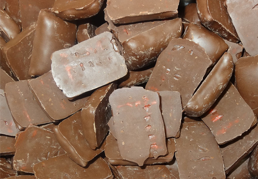 Dark Choc Cherry Bites, by Colonial Confectionery,  and more Confectionery at The Professors Online Lolly Shop. (Image Number :9744)