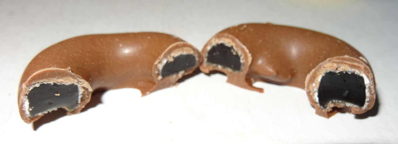 Milk Choc Aniseed Rings, by Colonial Confectionery,  and more Confectionery at The Professors Online Lolly Shop. (Image Number :6824)