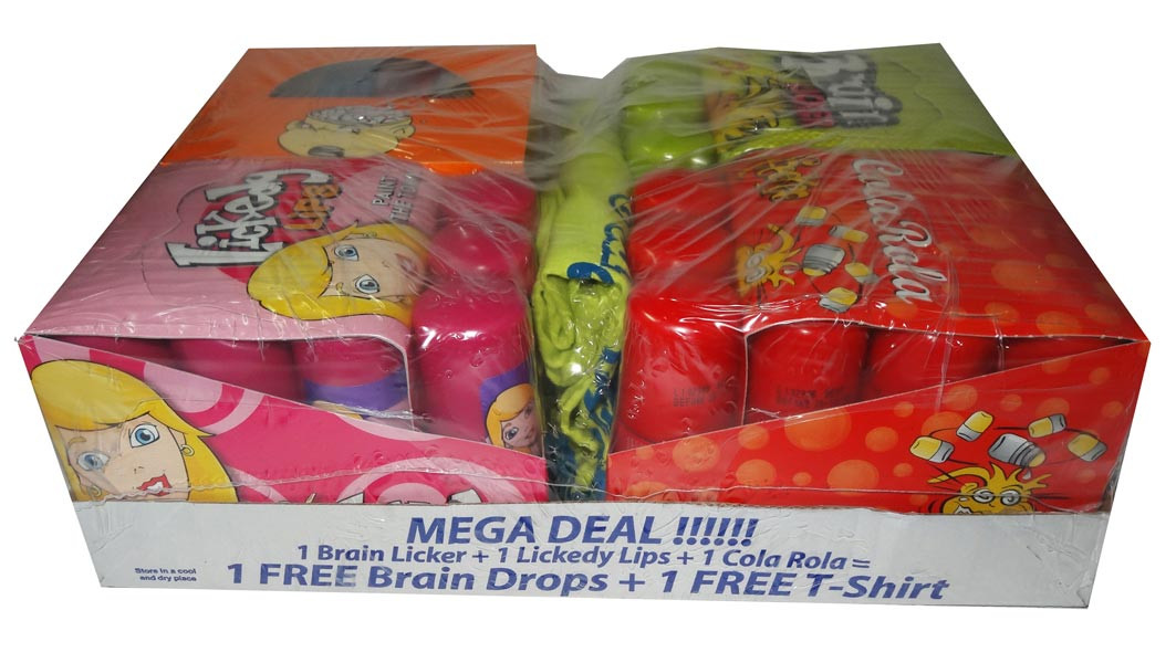 Brain Licker Mega Deal - 4 Pack Plus T-shirt, by Candy Brokers,  and more Confectionery at The Professors Online Lolly Shop. (Image Number :6669)