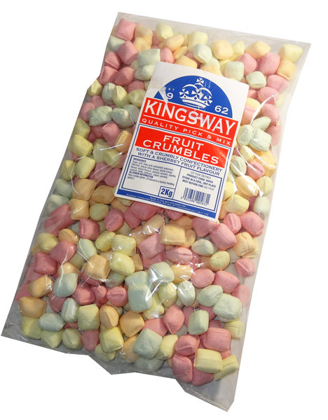 Fruit Crumbles, by Kingsway,  and more Confectionery at The Professors Online Lolly Shop. (Image Number :6595)