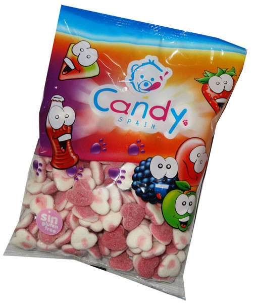 Gummi Jelly Filled  Fizzy Hearts and more Confectionery at The Professors Online Lolly Shop. (Image Number :6614)