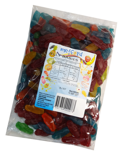 Metford Jelly Babies, by Metford Confectionery,  and more Confectionery at The Professors Online Lolly Shop. (Image Number :7403)