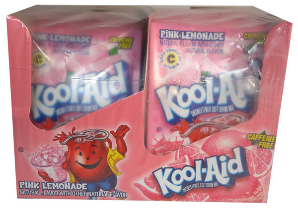 Kool Aid Pack  - Pink Lemonade flavour, by Kool Aid,  and more Beverages at The Professors Online Lolly Shop. (Image Number :6871)