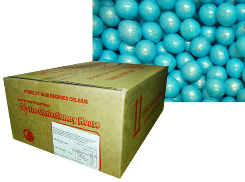 Shimmer Choc Balls - Blue, by Confectionery House,  and more Confectionery at The Professors Online Lolly Shop. (Image Number :9990)