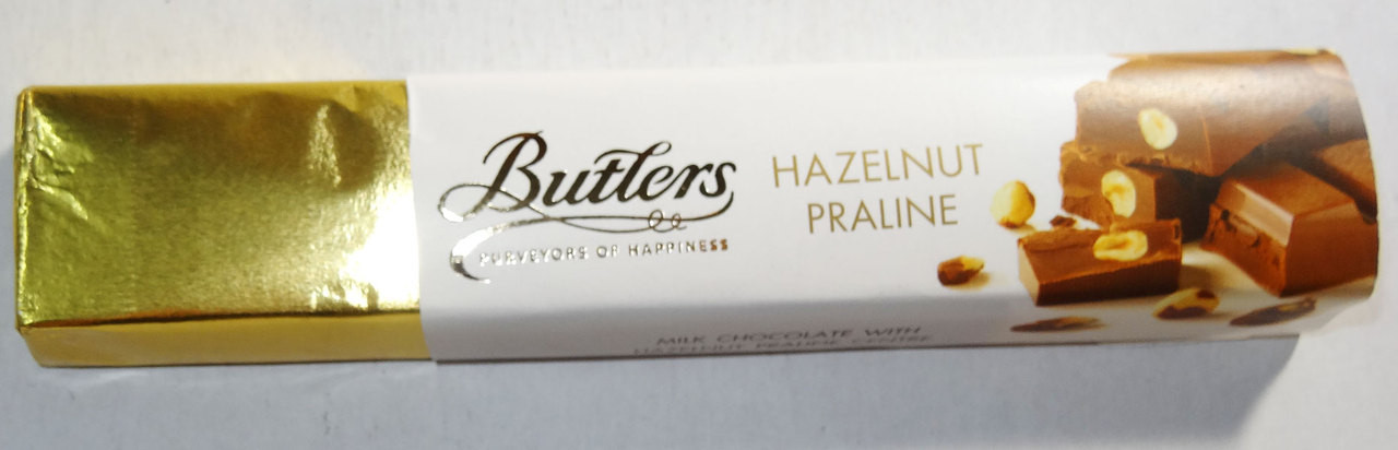Butlers Hazelnut Praline Bar, by Butlers Chocolates,  and more Confectionery at The Professors Online Lolly Shop. (Image Number :6660)