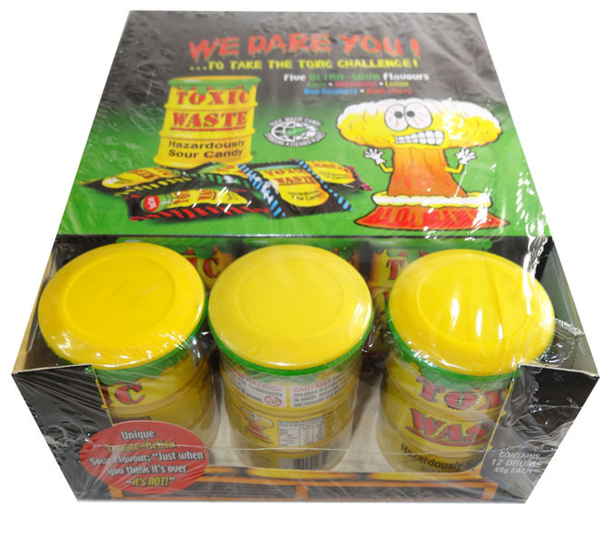 Toxic Waste Drum, by Candy Brokers,  and more Confectionery at The Professors Online Lolly Shop. (Image Number :6649)