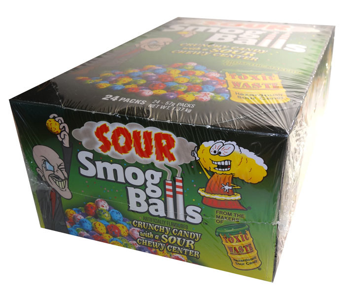 Sour Smog Balls, by Candy Brokers,  and more Confectionery at The Professors Online Lolly Shop. (Image Number :6665)