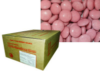 Choc Drops - Light Pink, by Confectionery House,  and more Confectionery at The Professors Online Lolly Shop. (Image Number :8771)