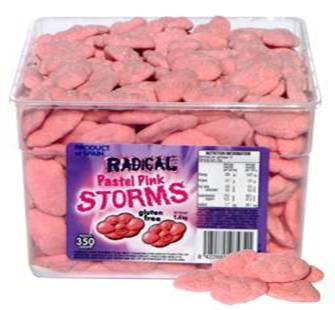 Radical Storms - Pastel Pink, by AIT Confectionery,  and more Confectionery at The Professors Online Lolly Shop. (Image Number :6645)