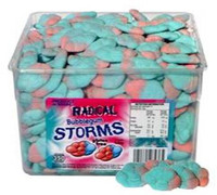 Radical Storms - Bubblegum, by AIT Confectionery,  and more Confectionery at The Professors Online Lolly Shop. (Image Number :6647)