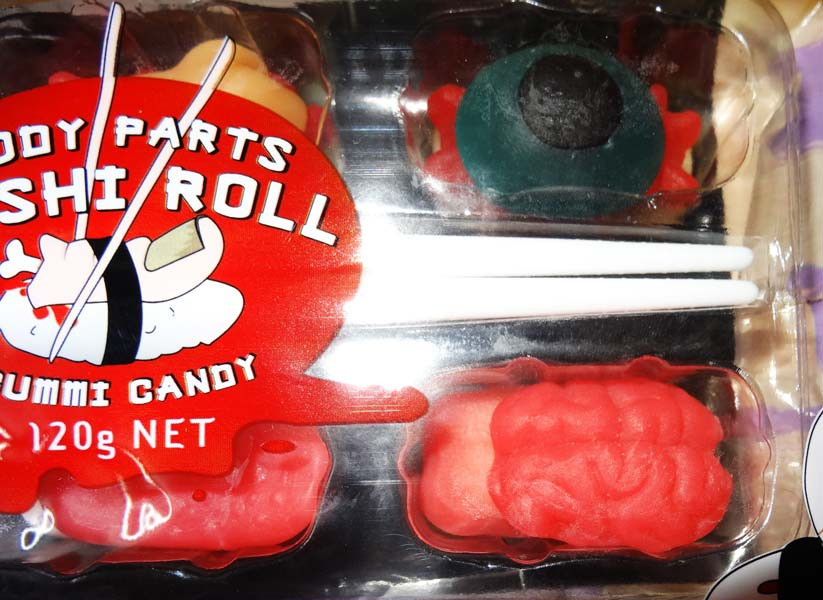 Body Parts Sushi Roll, by Lolliland,  and more Confectionery at The Professors Online Lolly Shop. (Image Number :6707)