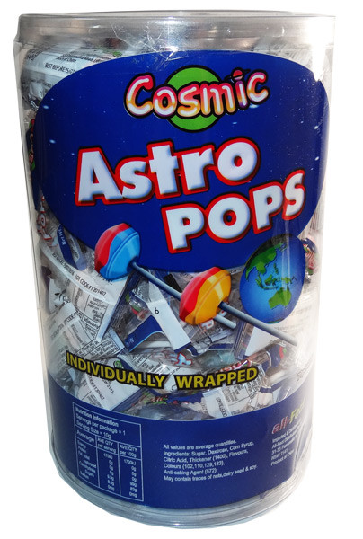 Cosmic Astro Pops, by AllFect Distributors,  and more Confectionery at The Professors Online Lolly Shop. (Image Number :6865)