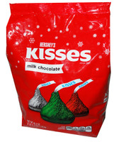Hersheys Christmas Kisses Bag, by Hersheys,  and more Confectionery at The Professors Online Lolly Shop. (Image Number :6747)