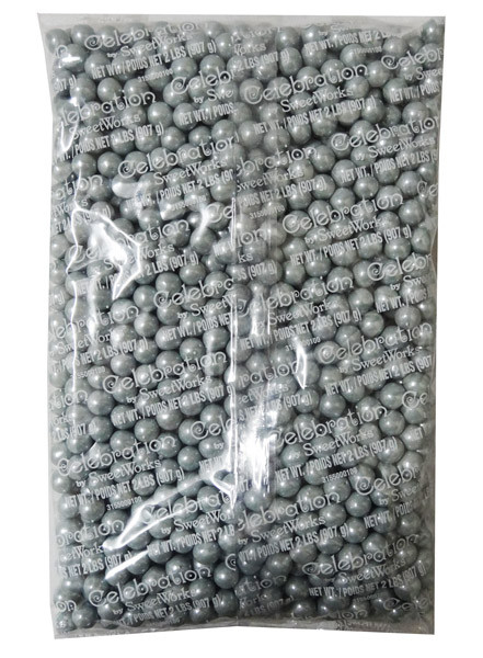 Sixlets - Shimmer Silver, by Sixlets,  and more Confectionery at The Professors Online Lolly Shop. (Image Number :7842)