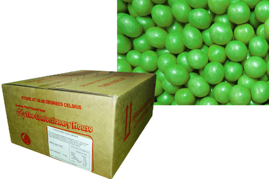 Shimmer Choc Balls - Lime Green, by Confectionery House,  and more Confectionery at The Professors Online Lolly Shop. (Image Number :10184)