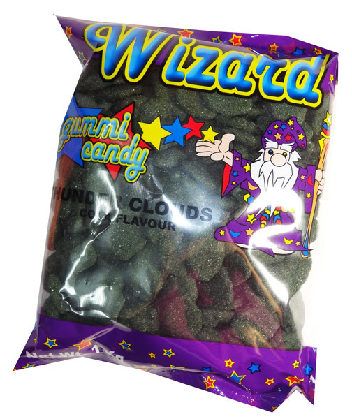 Wizard Thunder Clouds - Black Cola, by Wizard,  and more Confectionery at The Professors Online Lolly Shop. (Image Number :7096)
