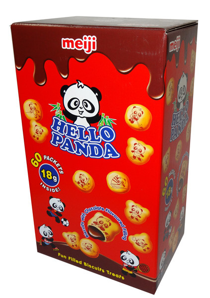 Meiji Hello Panda Choco Creams, by Meiji,  and more Confectionery at The Professors Online Lolly Shop. (Image Number :6920)