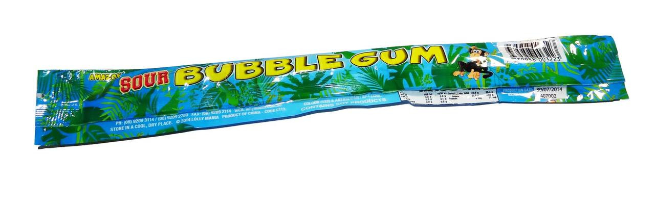 Amazon Sour Bubble Gum Sticks - Blueberry and more Confectionery at The Professors Online Lolly Shop. (Image Number :7014)
