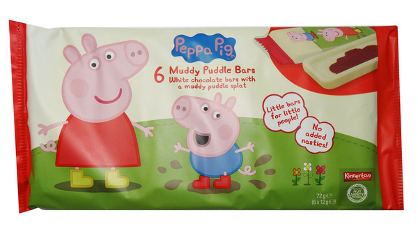 Peppa Pig Muddy Puddle Bars, by Kinnerton,  and more Confectionery at The Professors Online Lolly Shop. (Image Number :7020)