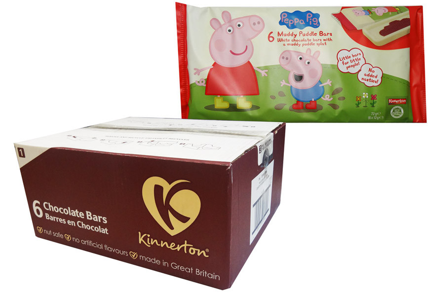 Peppa Pig Muddy Puddle Bars, by Kinnerton,  and more Confectionery at The Professors Online Lolly Shop. (Image Number :8739)