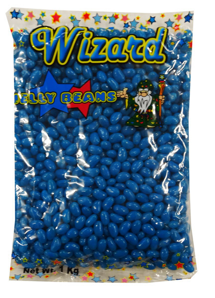 Wizard Mini Jelly Beans - Blue with Blueberry Flavour, by Wizard,  and more Confectionery at The Professors Online Lolly Shop. (Image Number :8464)