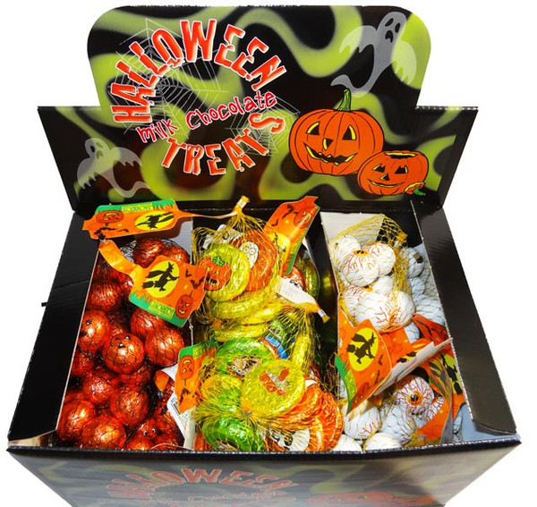 Assorted Halloween Milk Chocolate Balls, by Jacquot,  and more Confectionery at The Professors Online Lolly Shop. (Image Number :8009)