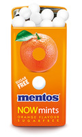 Mentos Now Mints - Sugar Free - Orange, by Perfetti Van Melle,  and more Confectionery at The Professors Online Lolly Shop. (Image Number :7036)